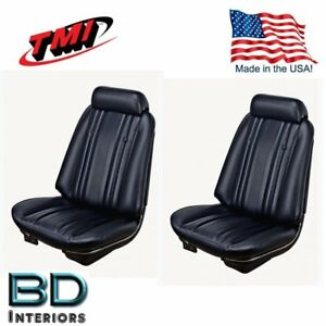 Terrific Details About 1969 Chevy Chevelle Front Bucket Seat Rear Upholstery Black By Tmi In Stock Squirreltailoven Fun Painted Chair Ideas Images Squirreltailovenorg