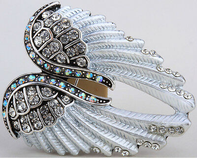 Aggressive Angel Wings Pin Brooch Pendant Women Biker Bling Jewery Gifts Qbd03 Pins & Brooches