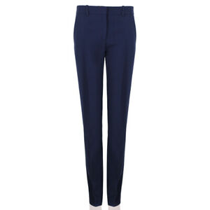 Celine-Midnight-Blue-Tailored-Fit-Straight-Leg-Trousers-Pants-FR38-UK10