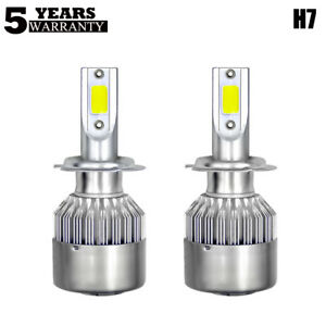 2X-COB-H7-220W-24000LM-LED-Lampara-Faro-Kit-Car-Haz-Bombillas-6000K-Blanco-XENoN