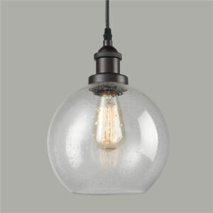 Retro ceiling light seeded glass pendant light open globe shade image is loading retro ceiling light seeded glass pendant light open aloadofball Image collections