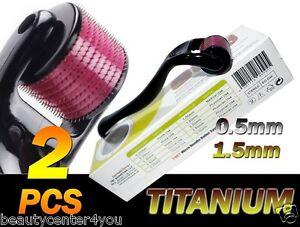 540-Titanio-Micro-Needle-Roller-Kit-0-5-y-1-5-mm-antienvejecimiento-Derma-Cicatrices-Acne