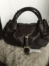 Hardly Worn Fendi Spy Bag In Dark Brown Leather Paid £1330 From Selfridges
