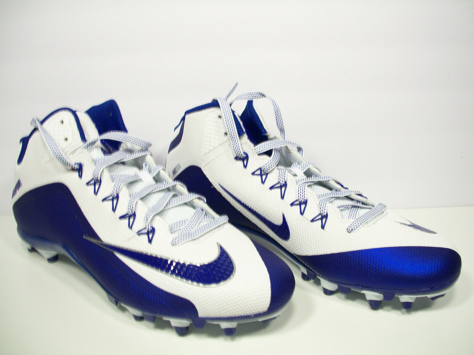 NIKE Mens Alpha Pro 2 3 4 TD Football Cleats Royal bluee White 729444-109 13
