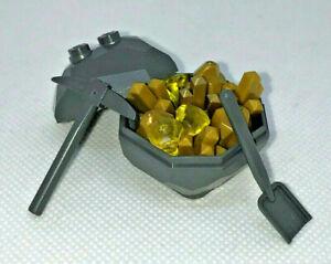 Lego-Rock-Gold-Crystal-Gem-Minerals-Geode-Miner-New