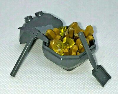 Lego Rock Gold Crystal Gem Minerals Geode Miner New