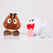 Super Mario Brothers White Boo Ghost Goomba Stuffed Plush Doll Toy New 2 pcs