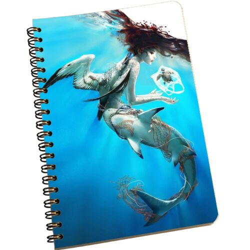 Notebook Diary Mermaid A5 Colorful Spiral Cover Journal School Notepad