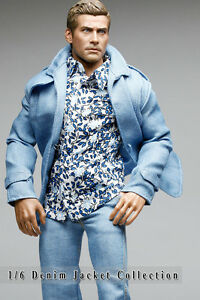 mc0383 Light Blue Smart Denim Jacket for 1/6 Figure (Jacket Only)