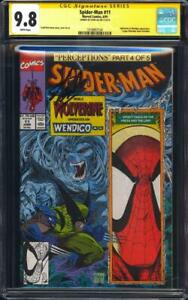 Spider-Man-11-CGC-9-8-SS-Wolverine-cover-Signed-by-Stan-Lee