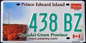 Canada-034-PRINCE-EDWARD-ISLAND-WINDMILL-GREEN-PROVINCE-PEI-Graphic-License-Plate