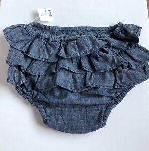 BABY GAP Jean Denim-Look Diaper Ruffle Cover Bloomer, 12 ...