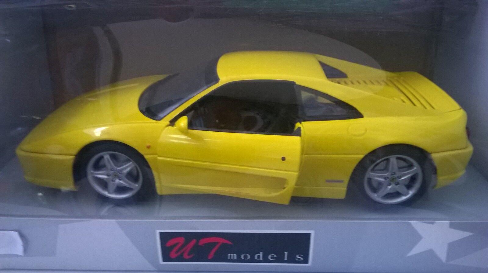 - 18 - modelle sterben mit metall ferrari f355 coupé 1994 gelb 074021