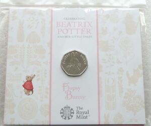2018-British-Royal-Mint-Beatrix-Potter-Flopsy-Bunny-50p-Fifty-Pence-Coin-Pack