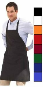 1-new-black-red-orange-green-white-blue-commercial-bib-apron-with-color-choice