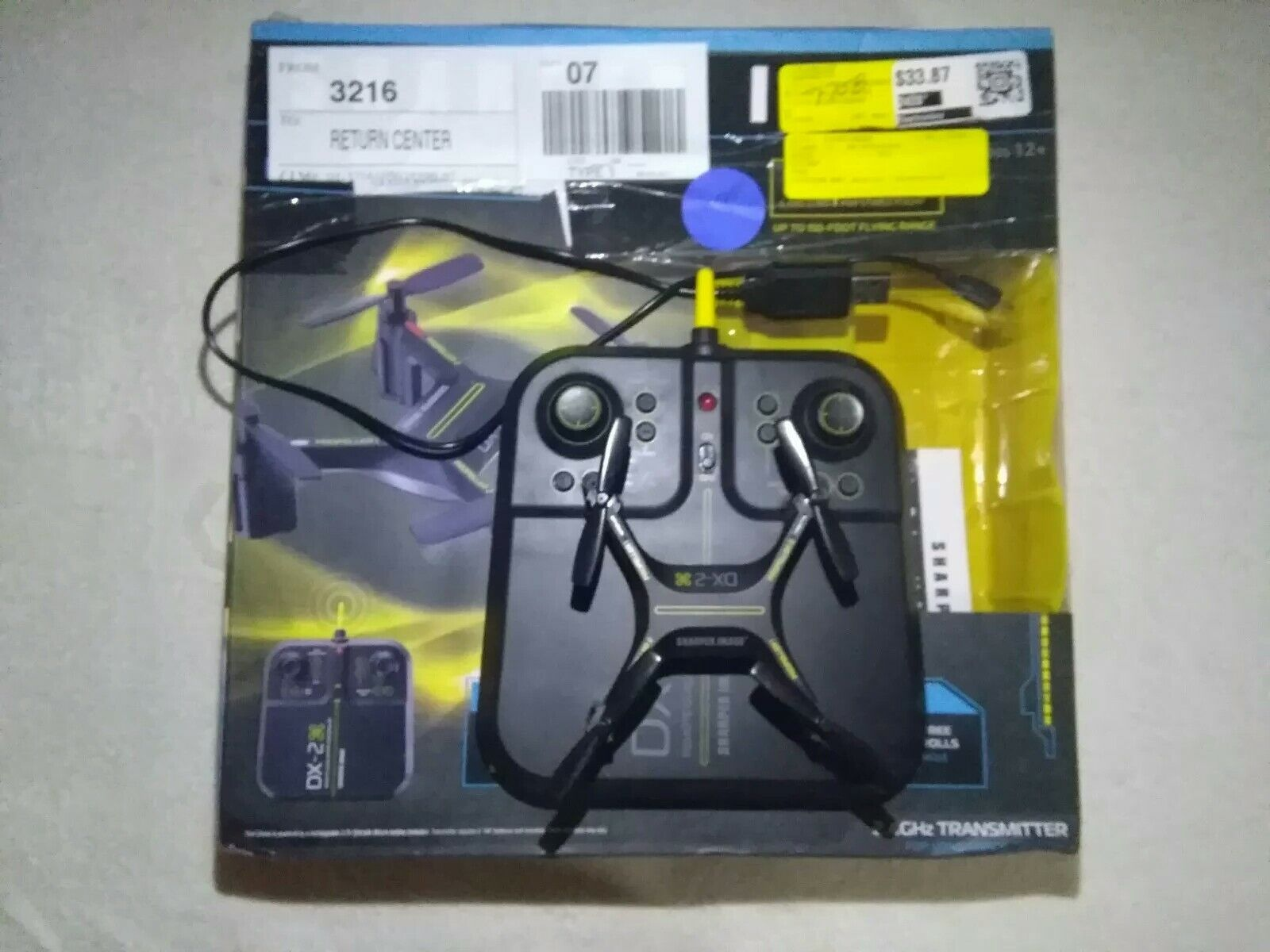 Sharper Image Rechargeable DX-2 DRONE (TESTED AND WORKS)