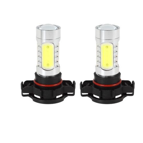 for 07-18 Chevrolet Silverado1500 2500 3500 HD 2X White LED Bulbs Fog Lights DRL
