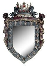 French Royalty Wall Mirror Home Decor Medieval Decor 30 Inch Tall