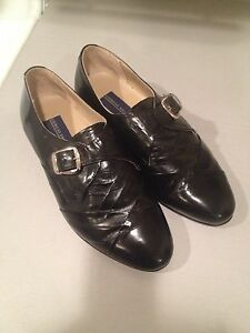 Giorgio Brutini leather slip-on vintage Dress Oxford Shoes Boots Black 7.5