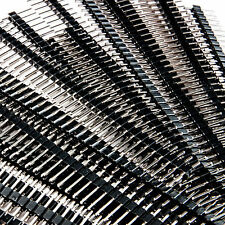 100pc 40 Pin Male Header 01 254mm Tin Square Breadboard Headers Strip Usa