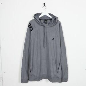 Détails sur Vintage adidas Petit Logo Polyester Capuche Sweat Taille XL