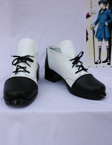 NEW black Butler Ciel Phantomhive Cosplay Costume Boots Boot Shoes Shoe