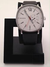 SKAGEN MEN'S RUNGSTED ANALOG WATCH WITH BLACK LEATHER BAND SKW6256