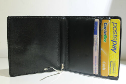 Piccolo porta carte tessere credito patente monete contante soldi euro in pelle
