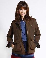 Brooklyn Industries Amelia Waxed Canvas Jacket in Brown Size XS