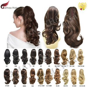 Synthetic-Jaw-Ponytail-Clip-in-Hair-Extension-Claw-Pony-Tail-Wavy-Hair-Piece-14-034