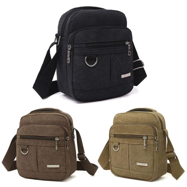Men/'s Vintage Canvas Shoulder Bag Handbag Outdoor Travel Hiking Crossbody bags