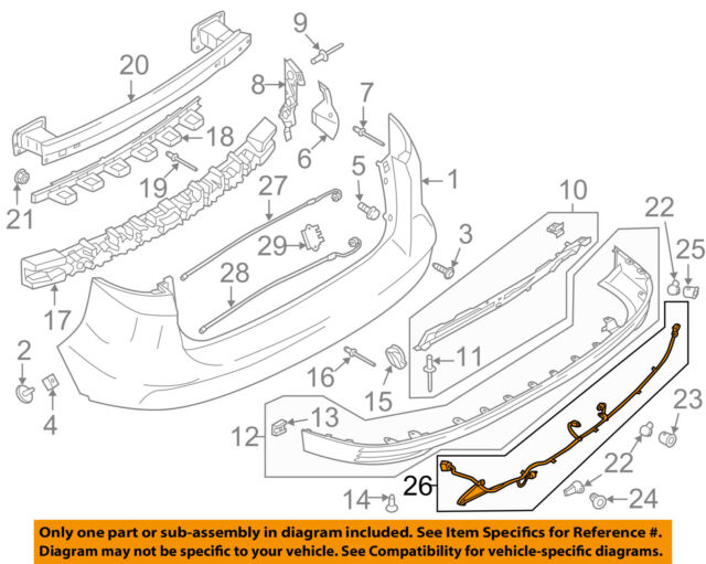 Ford Oem   C Max Rear Bumper Wire Harness Fvzkb