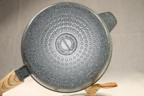 GMS cerámica sartén granito 28cmmadera-mangoantifhaftsartén
