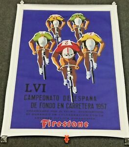 40-034-x-52-5-034-PRINT-ON-CANVAS-1957-FIRESTONE-POSTER-LVI-CAMPEONATO-DE-ESPANA-RACE