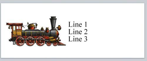 Personalized Address Labels Vintage Train Buy 3 get 1 free {jx 554}