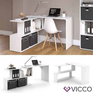 Details Zu Vicco Eckschreibtisch Levia Weiß Pc Tisch Arbeitstisch Computer Büro