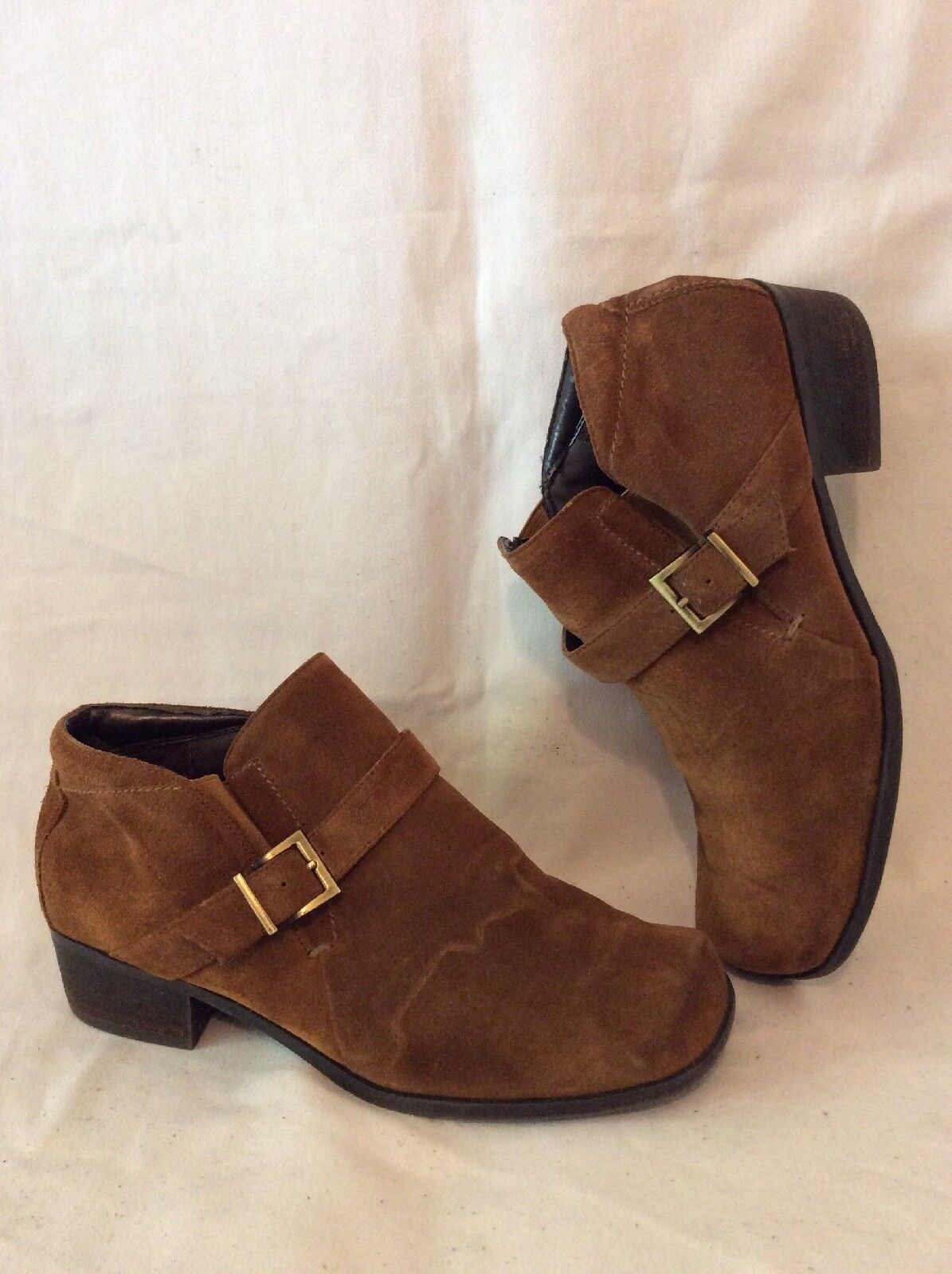 Markon Brown Ankle Suede Boots Size 8