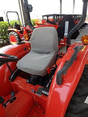 Durafit Seat Covers KU09 C8 Kubota Seat Covers for Tractor in Gray Waterproof