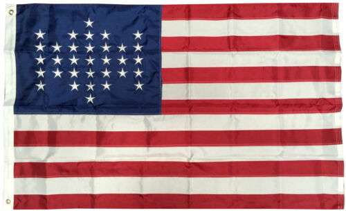 Details about  /3x5/' American 33 STAR Flag Fort Sumter EMBROIDERED NYLON Old Glory Spangled USA