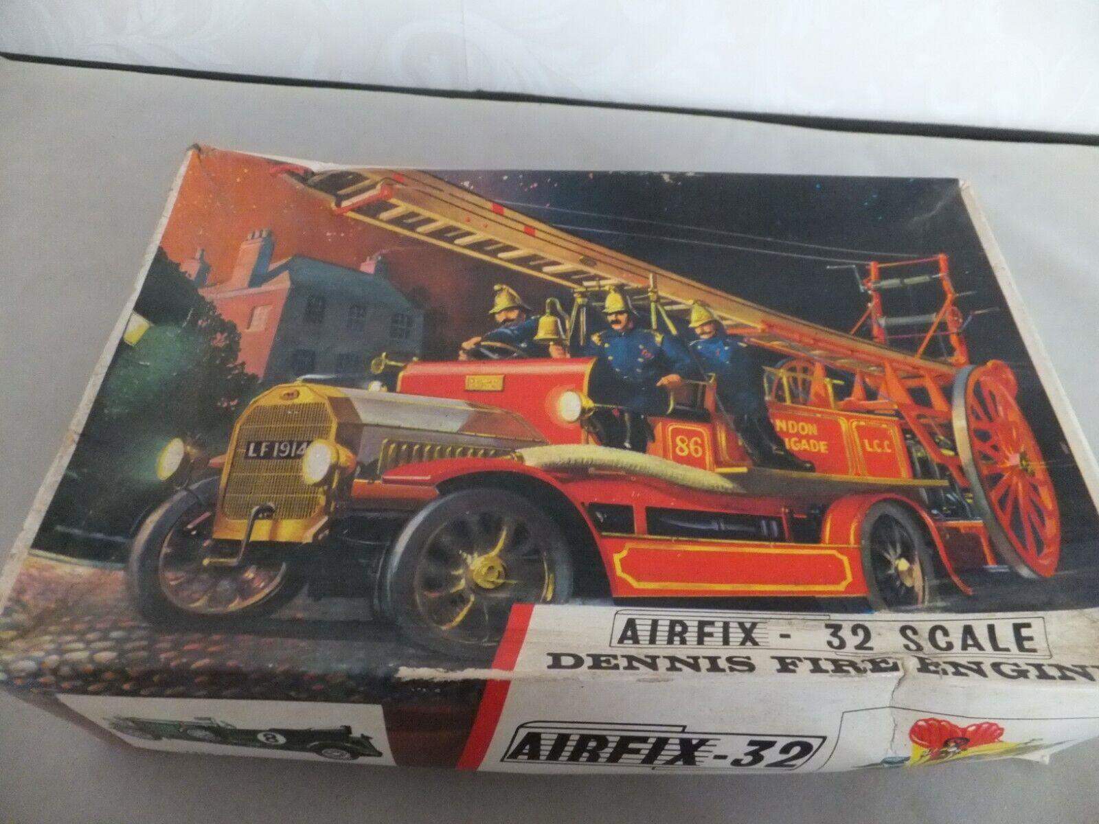 Vintage Airfix Kit 32 Scale Dennis Fire Engine