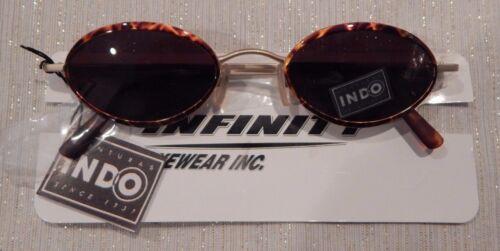 87 Gold Demi Sunglasses Eyeglass Frame NOS   #201 INDO New Power