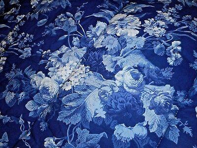 Rare Ralph Lauren Staffordshire Floral Twin Comforter Blue White Roses 2 AVL