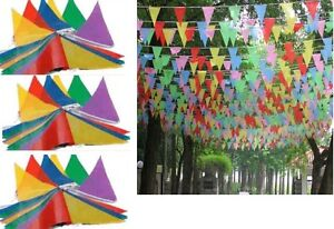 MULTICOLOUR-BUNTING-FLAGS-PENNANTS-BANNER-DECORATION-BIRTHDAY-PARTY-OUTDOOR