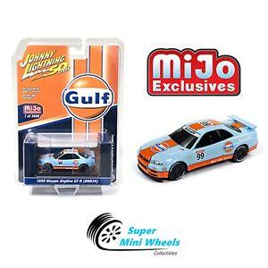 Johnny-Lightning-50th-Anniversary-1999-Nissan-GT-R-R34-GULF-Mijo-Exclusive-1-64