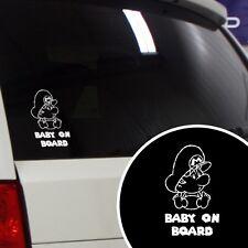 """Baby Mario Super Mario Funny """"Baby on Board"""" Car Window Vinyl Decal Sticker"""