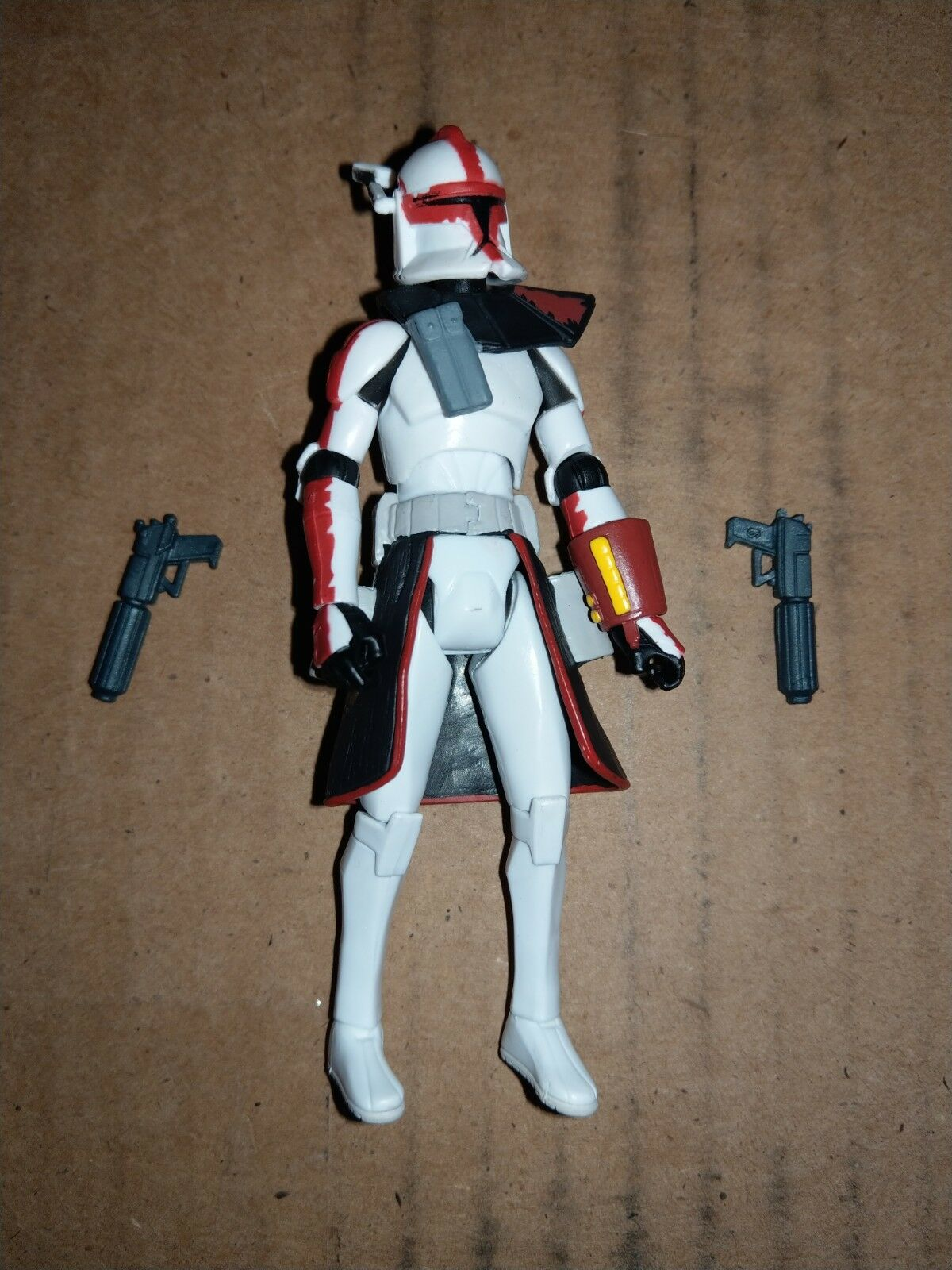 Star Wars Rare ROT ARC Trooper Commander With Blaster Pistols and Arm Gauntlet