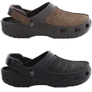 2abaa19a8 Mens Crocs Classic Yukon Mesa Clog Black or Espresso Brown New With ...