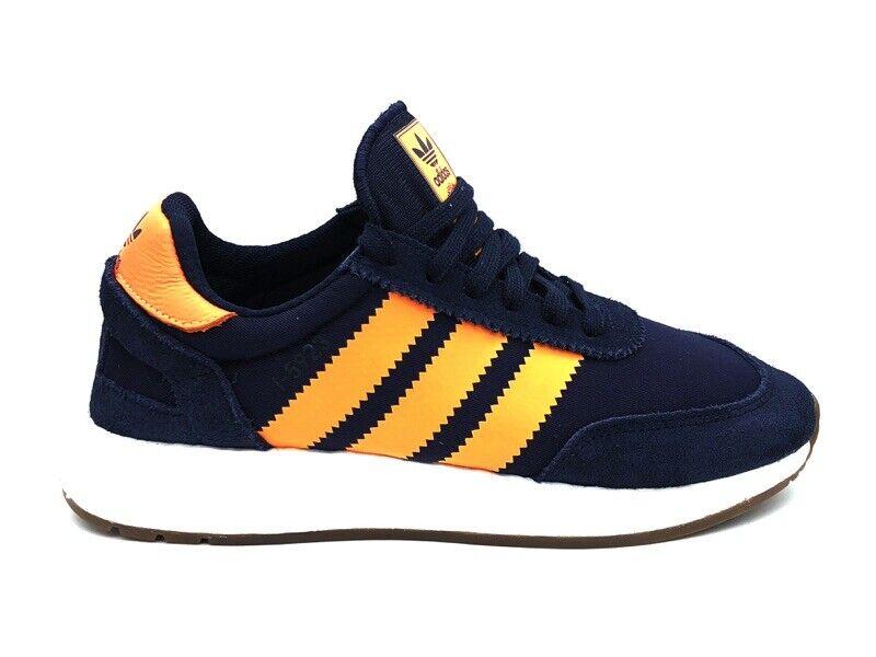 Adidas Turnschuhe I-5923 Blau Orange Weiß