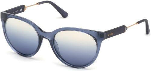 Neuf avec étiquettes Guess Lunettes de soleil GU 7619 92 W 55 mm Bleu//Vert Bleu Lentille