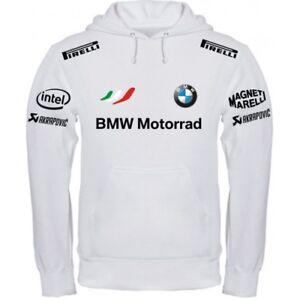 Sweat-Shirt BMW Motorrad Blanc Noir T-Shirt Polo Col-écharpe